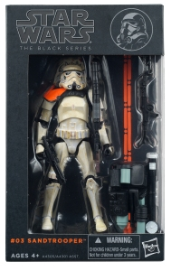 Star Wars - The Black Series - SANDTROOPER (SQUAD LEADER:ORANGE PAULDRON)